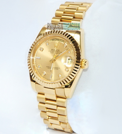 Đồng hồ Rolex nam Automatic Full gold 2 lịch RL002